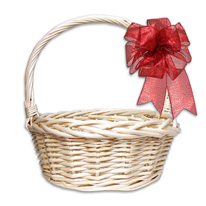 Medium White Round Basket