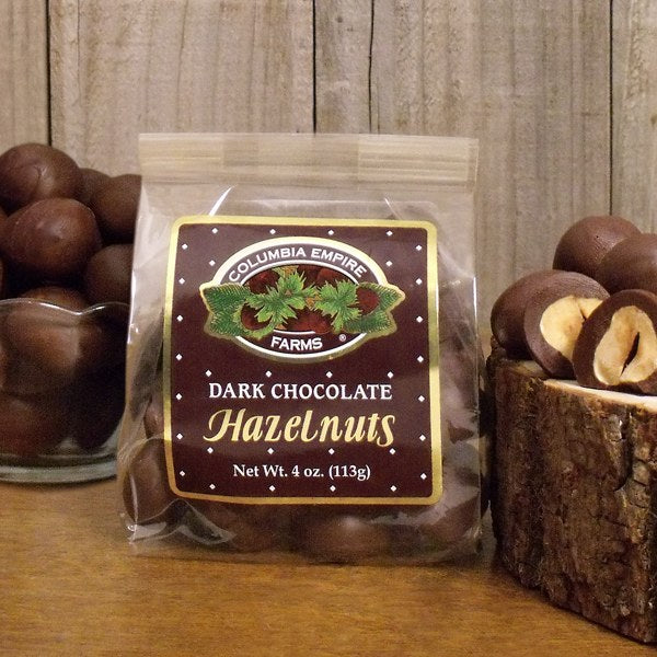 4oz Dark Chocolate Hazelnuts