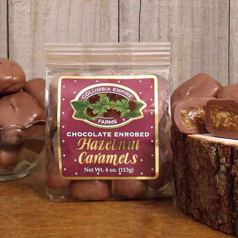 4oz Chocolate Hazelnut Caramels