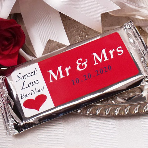 Mr. & Mrs. Milk Chocolate Bar