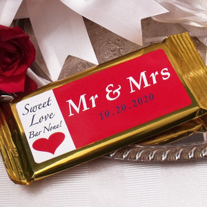 Mr & Mrs Dark Chocolate Bar