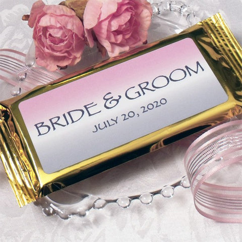 Bride & Groom Dark Chocolate Bar