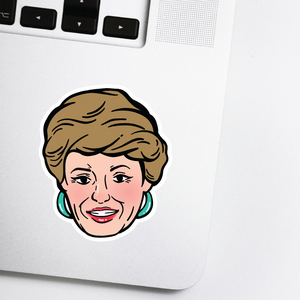 Golden Girls Sticker - Blanche Celebrity Head