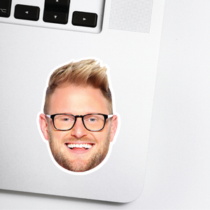 Bobby Berk Celebrity Head Sticker - Queer Eye