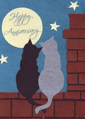 Cat Anniversary Card