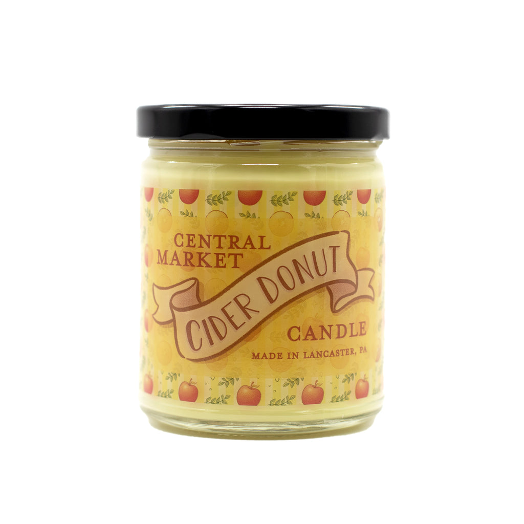 Lancaster County, PA Central Market Cider Donut Candle