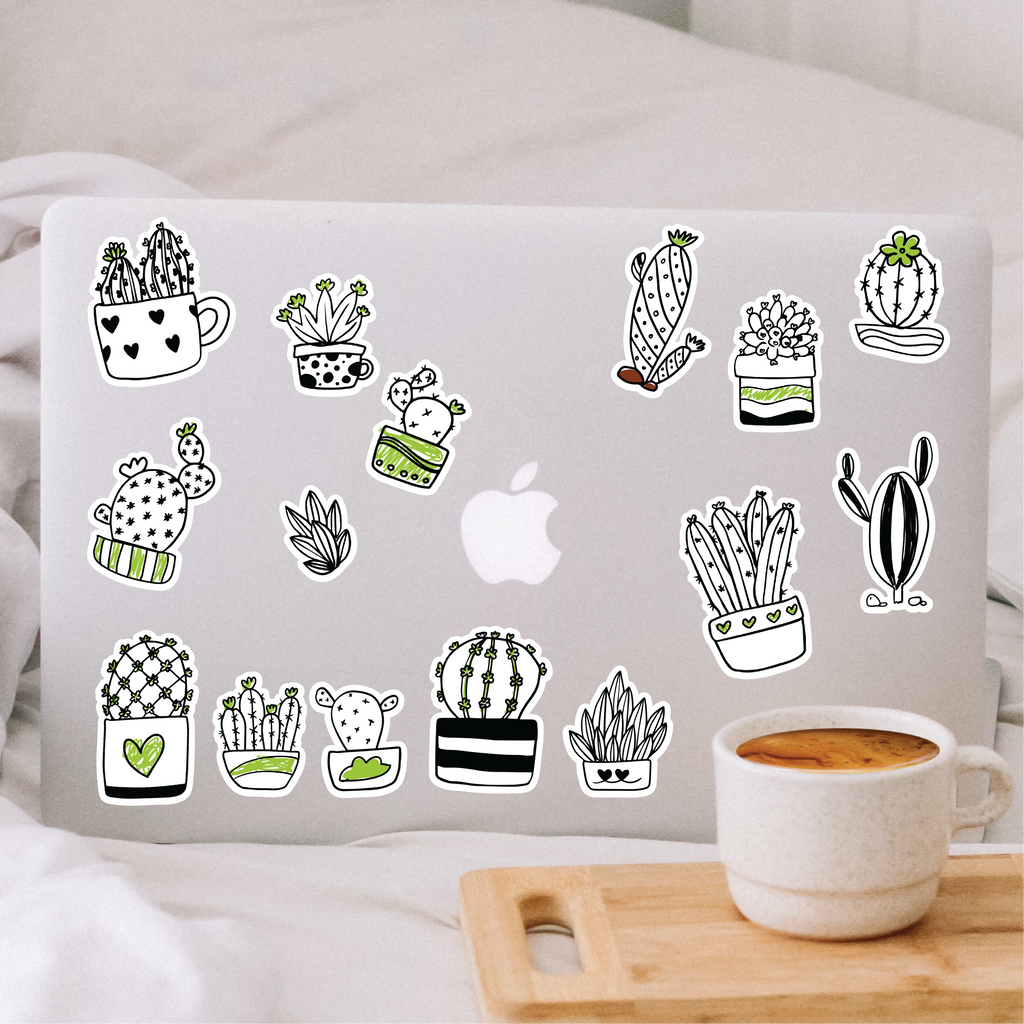 Color Your Own Plants Sticker Pack