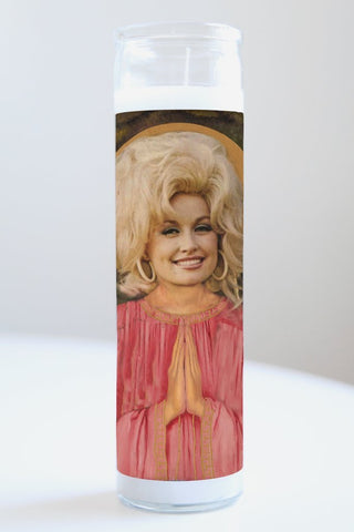 Dolly Parton Idol Candle