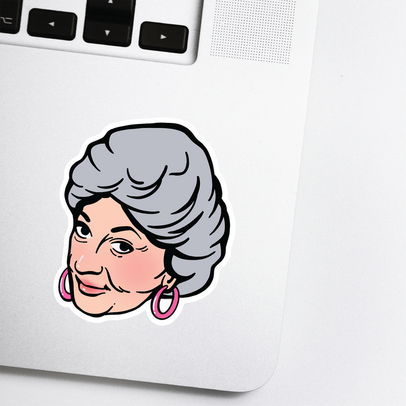 Golden Girls Sticker - Dorothy Celebrity Head