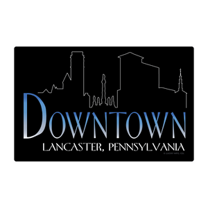 Downtown Lancaster Pennsylvania Neighborhoods- 80s TV Sticker