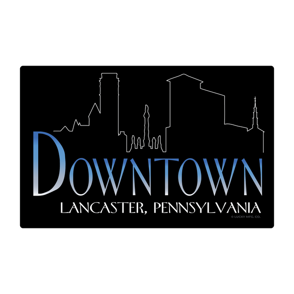 Downtown Lancaster Pennsylvania - 80s TV Sticker