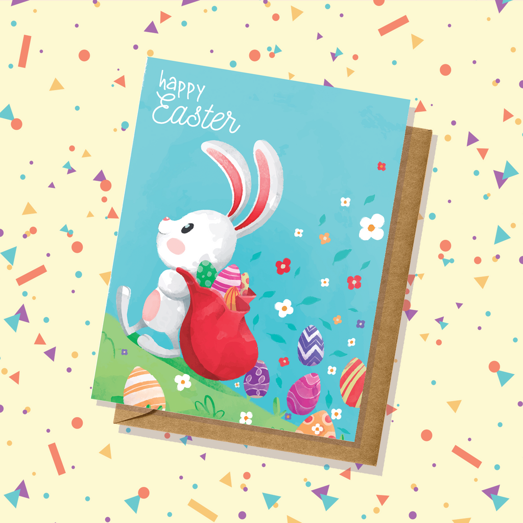 Easter Bunny Watercolor Easter Card