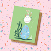 Dancing Bunny Easter Card