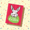 Etched Rabbit Easter Card