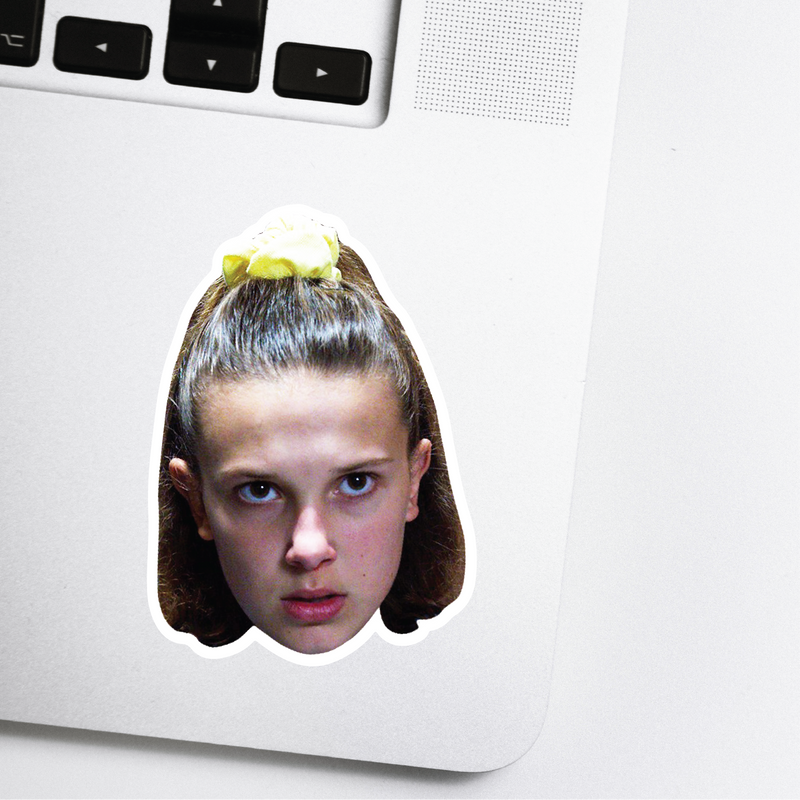 Eleven Celebrity Head Sticker - Stranger Things