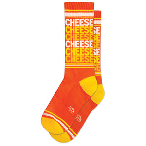 Cheese X6 Ribbed Gym Socks by Gumball Poodle