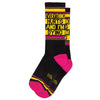 Everything Hurts & I'm Dying Ribbed Gym Socks by Gumball Poodle