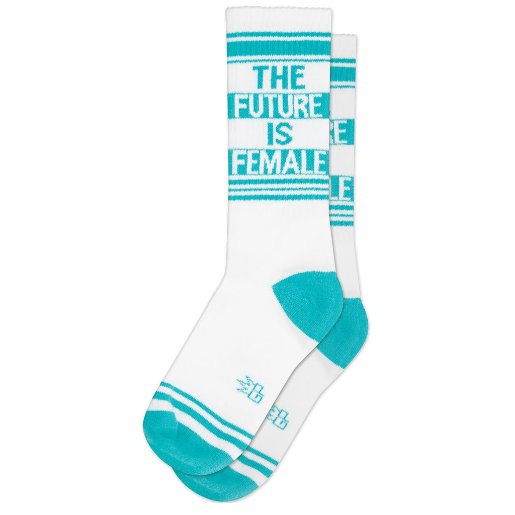 The Future is Female Ribbed Gym Socks by Gumball Poodle