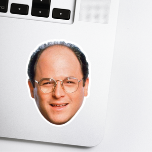 George Costanza Celebrity Head Sticker - Seinfield