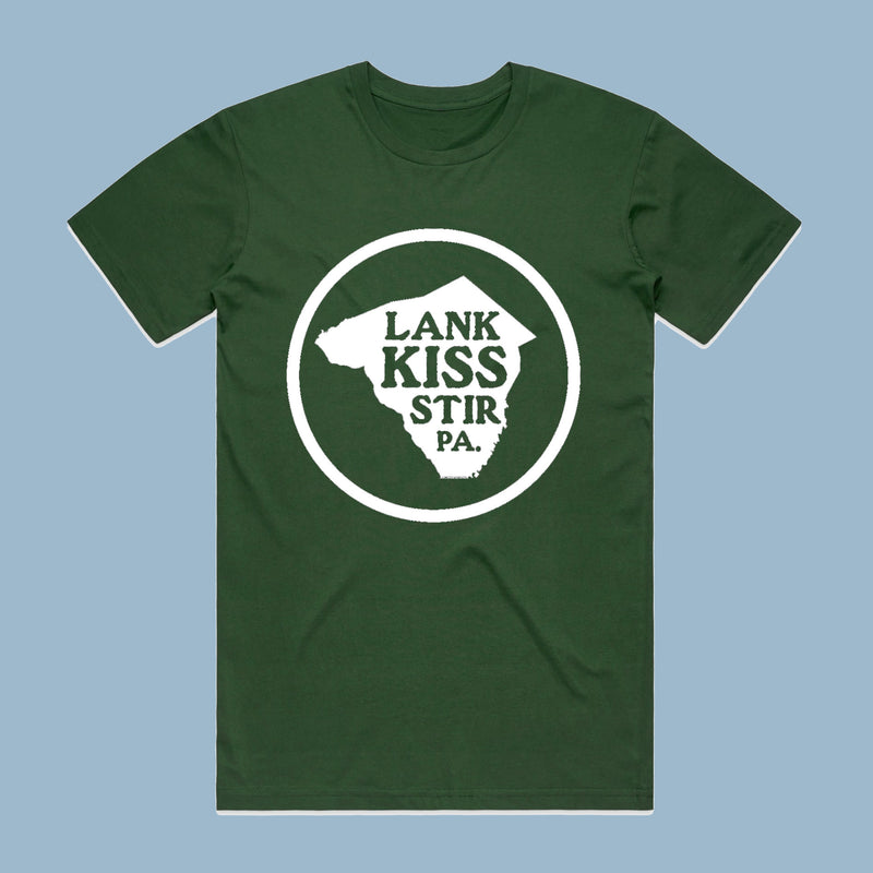 NEW ~ 'Lank Kiss Stir' Lancaster, PA Made in USA T-Shirt
