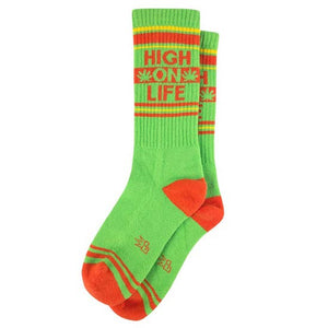 High on Life Ribbed Gym Socks by Gumball Poodle