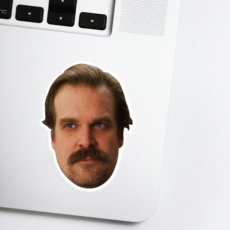Hopper Celebrity Head Sticker - Stranger Things