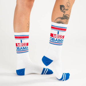 I Miss Obama Ribbed Gym Socks by Gumball Poodle