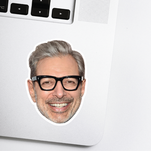 Jeff Goldblum Celebrity Head Sticker
