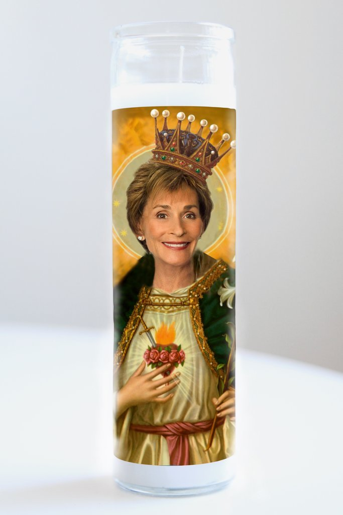 Judge Judy Idol Candle
