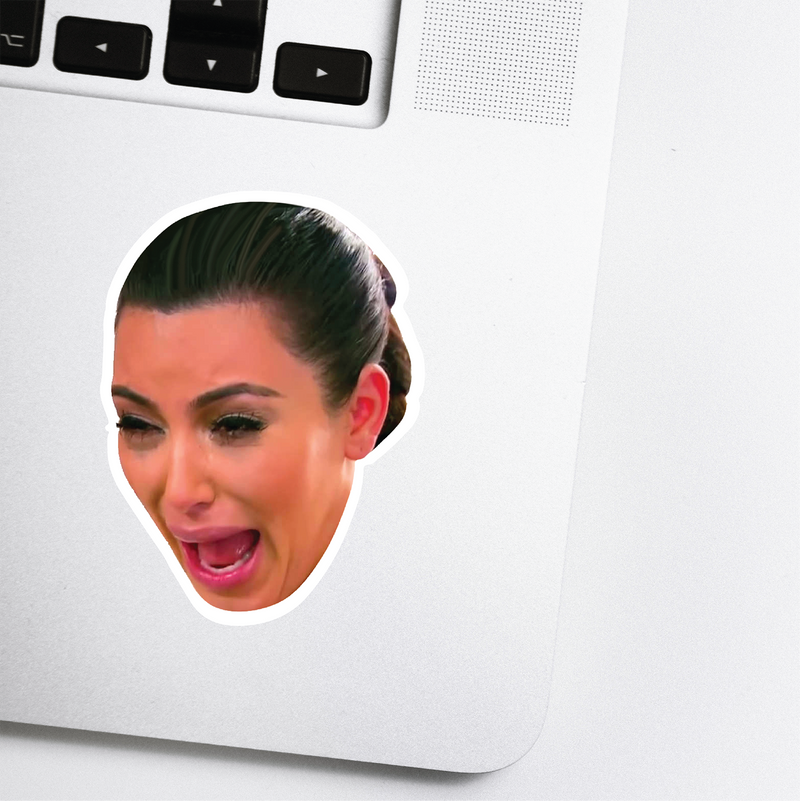 Crying Kim Celebrity Head Sticker
