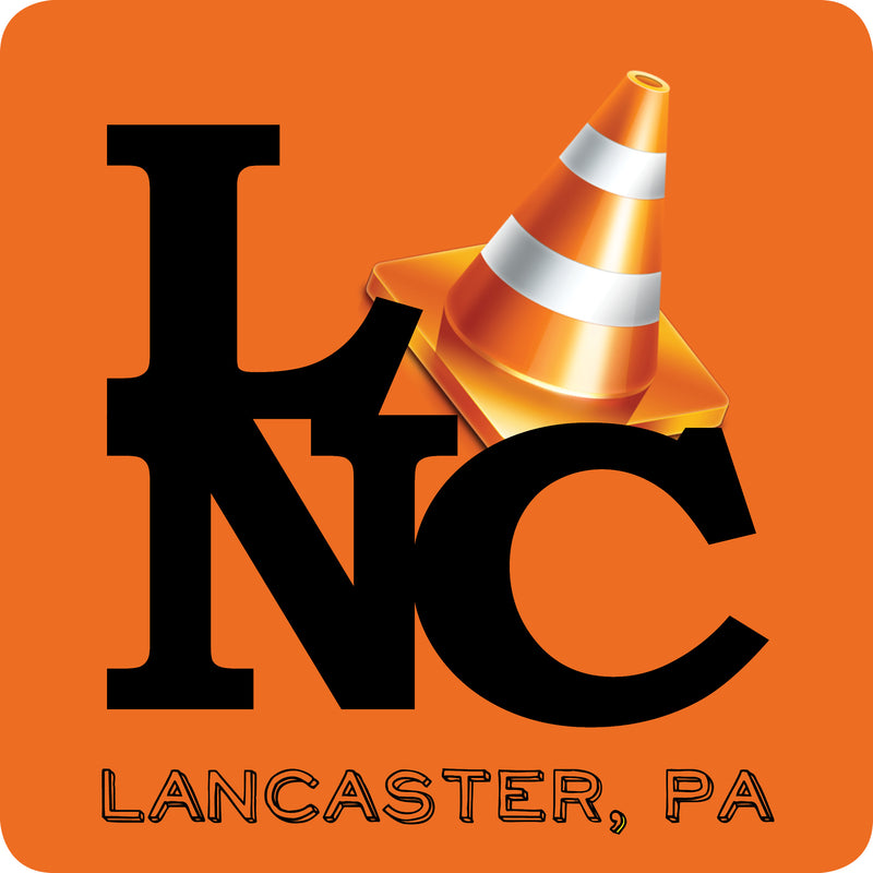 Lancaster Pennsylvania Traffic Cone Square Sticker