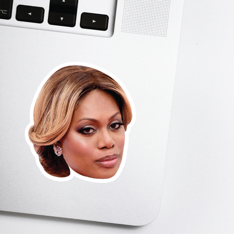 Laverne Cox Celebrity Head Sticker