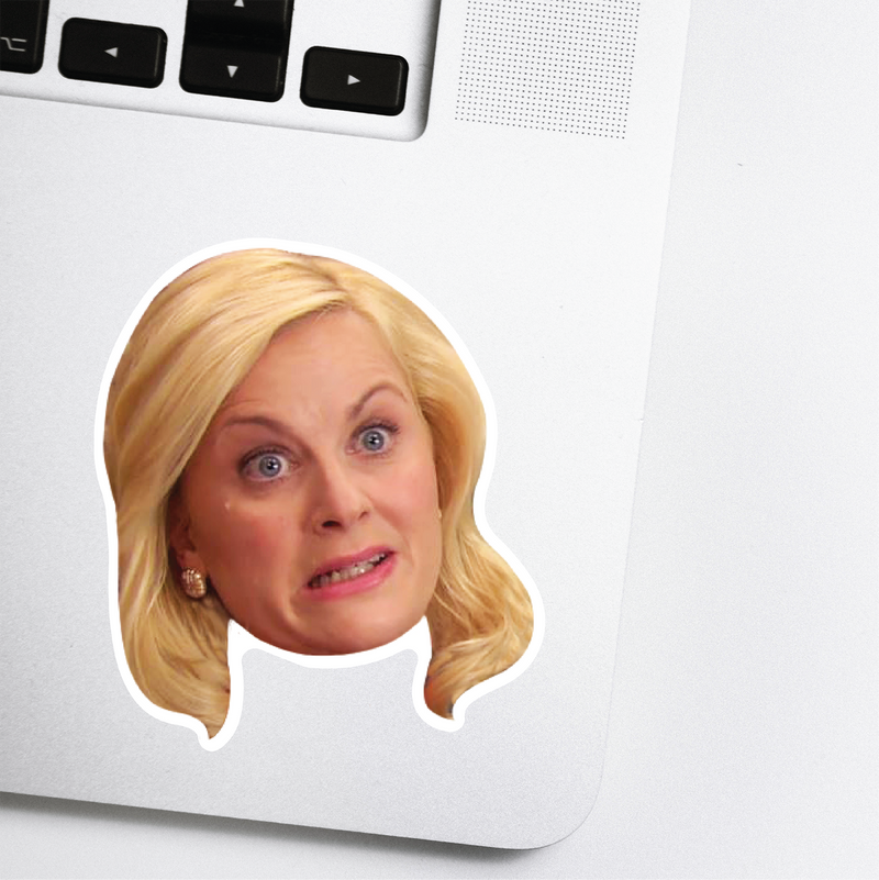 Amy Poehler Celebrity Head Sticker - Parks and Rec -Saturday Night Live