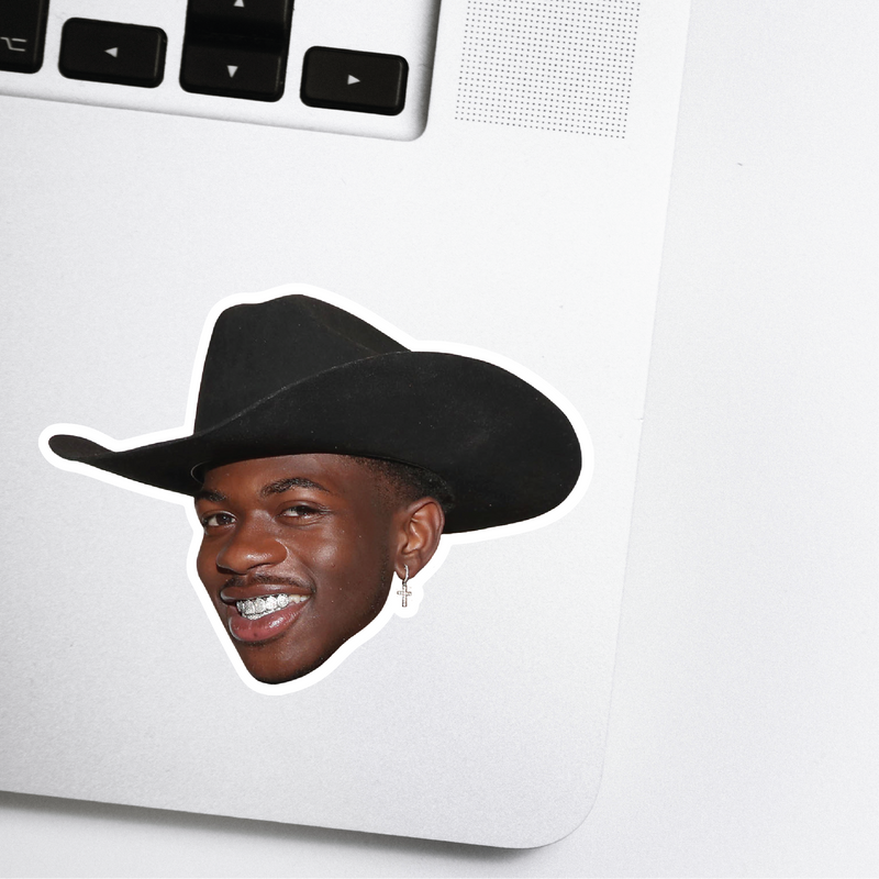 Lil Nas X Celebrity Head Sticker - Old Town Road