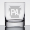 Etched Pennsylvania Rocks Glass - 3 Designs