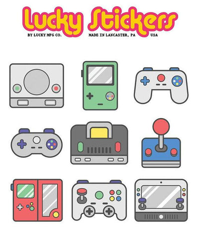 Gamers - Lucky Stickers