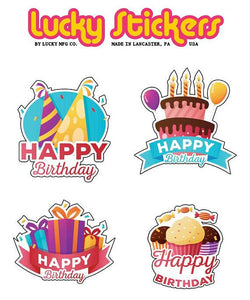 Happy Birthday - Lucky Stickers