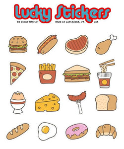 Junk Food - Lucky Stickers