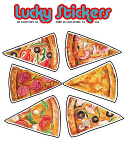 Pizza - Lucky Sticker