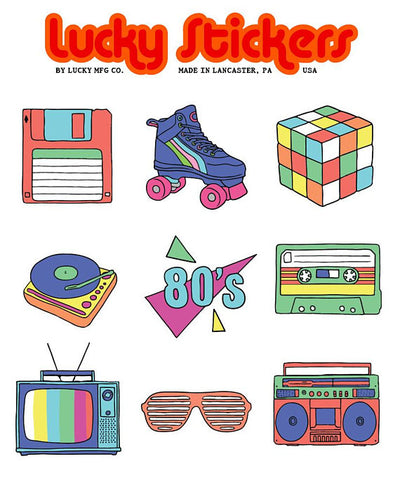 Retro 80s II - Lucky Stickers