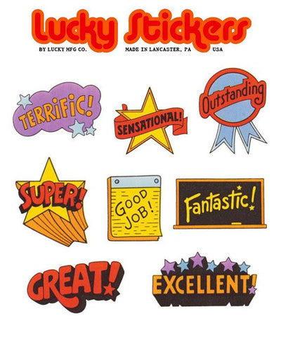Retro Slogans - Lucky Stickers