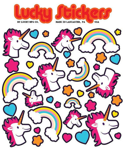 Unicorns & Rainbows - Lucky Stickers