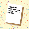Shave My Legs Couple Thank You Card