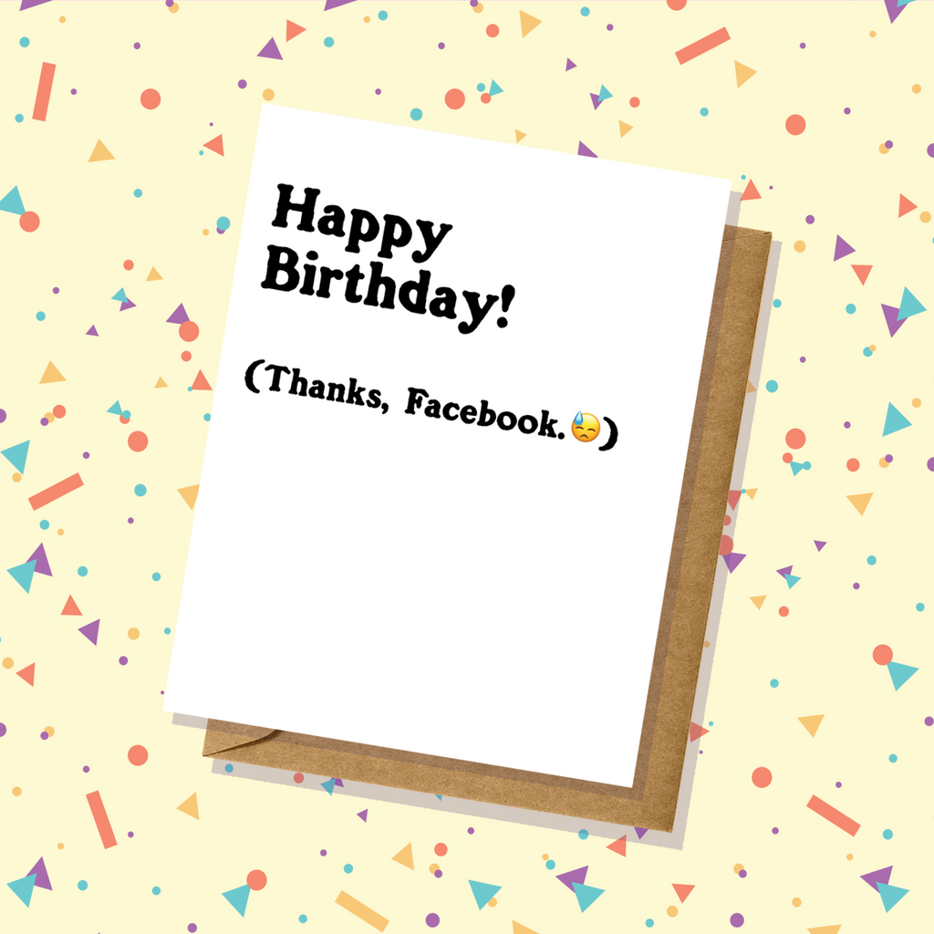 Saw it on Facebook Birthday Card