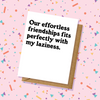 Effortless Friendship Thank You Card