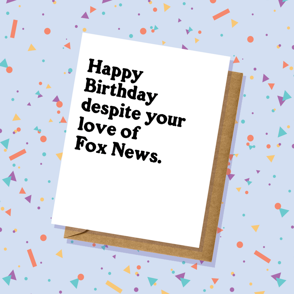 Love of Fox News Birthday Card