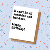 Sunshine & Hookers Birthday Card