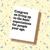Basic Expectations Graduation Card