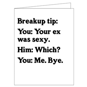 Breakup Tip Card