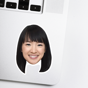Marie Kondo Celebrity Head Sticker